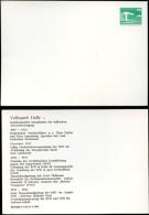DDR PP18 B2/014 Privat-Postkarte FEHLDRUCK NUR RÜCKSEITE Volkspark Halle 1982 - Cartoline Private - Nuovi