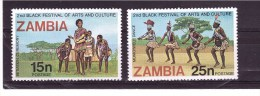 ZAMBIA  1977 Odd Value Yvert Cat. N° 166-167  Mint Never Hinged ** - Zambia (1965-...)