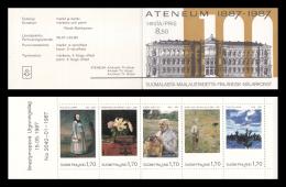 Finland - 1987 - ( Paintings - Natl. Art Museum Ateneum, Cent. ) - Booklet Pane Of 5 - MNH (**) - Ungebraucht