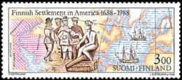 Finland - 1988 - ( Settlement Of New Sweden In America, 350th Anniv. ) - MNH (**) - Ungebraucht