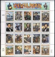 USA - CIVIL  WAR  -  SHEET - **MNH  - 1995 - Independecia USA