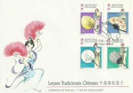 Macau 1997 Traditional Chinese Fans Souvenir Card FDC - FDC