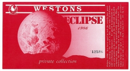 Rare Luna Eclipse Mint Wine Label Numbered. - Unclassified