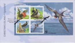 Christmas Island FDC Block 26 - WWF Mi 681-684 - Frigatebird - Fregata Andrewsi - 2010 - Christmaseiland