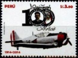 Peru 2014 ** Centenario Del Cap. Quiñones. Avion. See Description - Peru