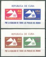 CUBA - 1961 15 YEARS UNITED NATIONS M/S - Ungebraucht