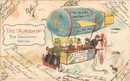 Illustrateur, The Airship, Democratic Vehicle, Dirigeable Et Nacelle... - Other Illustrators