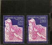 """France 1996 Oblitéré N° 2990a  ( Dentelé 13,5 X 13 )  & 2991    """" Journée Du Timbre - Semeuse  1903 - - Usati"""
