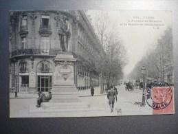 L'Avenue De Messine Et La Statue De Shakespeare - France