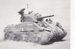 MILITARY . TANK POSTCARD -AMERICAN M4 SHERMAN 1. - Equipment