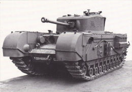 MILITARY - TANK POSTCARD  - BRITISH CHURCHILL V11 - Equipment