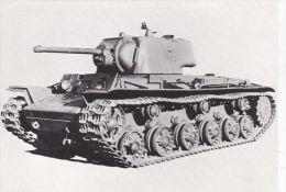 MILITARY -TANK POSTCARD -RUSSIAN KV1 - Equipment