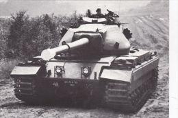 MILITARY -TANK POSTCARD -BRITISH CONQUEROR - Equipment