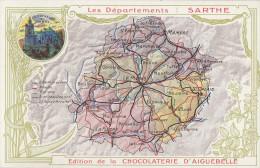 CPA - Carte Du Département  - Edition De La Chocolaterie D´Aiguebelle - Zonder Classificatie