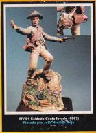 "- F.M.BENEITO - Figurines "" Soldat Confédéré 1863  "" - 54 Mm- Réf MV.51 - Figurines"
