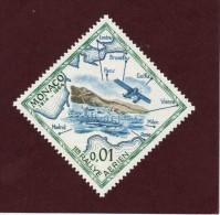 637  De  1964  -  MONACO  -  Neuf **  -  Les 50 Ans Du Rallye Aérien De Monaco - Monaco
