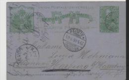 HA038/-  HAITI  Frageteil (Ascher 6) Nach Harburg (Hamburg) Via NY 1905 (Brief, Cover, Lettre) - Haiti