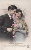 Carte  Postale Début  Du XXe S.  -   Couple    ''  Redis Ces Mots D' Amour ..  Un Chant Toujours Berceur..... '' - Couples