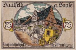 Billets -  B1568- Allemagne  -  Notgeld Der Stadt Saalfeld A. Saale   ( Type, Nature, Valeur, état... Voir 2 Scans) - [ 3] 1918-1933 : République De Weimar
