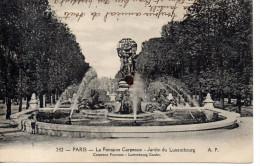 CP -  PARIS - LA FONTAINE CARPEAUX - JARDIN DU LUXEMBOURG - 212 - A. P. - Francia