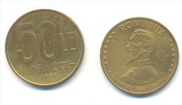 ROMANIA  50 LEI ANNO 1991 - Rumania
