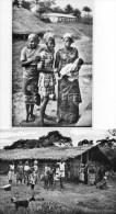 412Es   Cameroun Lot De 2 Cpsm Format Cpa En TTBE Djolé Poto Poto à La Chapelle Et La Sortie Du Bapteme - Cameroon