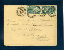 N° 211 Arts Décoratifs X 2 Tarif 30c Tours Gare Indre Et Loire 1925 Verso OMEC Bordeaux - Postmark Collection (Covers)