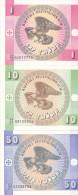 Kirghizistan - Lot Of 3  (UNC FDC) Aigle, Eagle - Kirghizistan