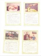 BON POINT - Education Morale Et Civique - Ecole, élève,... Lot De 4 Fiches (b158) - Fiches Illustrées