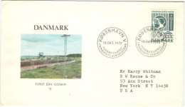 DANIMARCA - DANMARK - 1972 - Constructions Du Génie - Port De Knudshoved - FDC - FDC