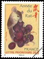 YT4131 Année:2008 Nouvel An Chinois : L´année Du Rat Lettre De 20g - Francia