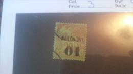 LOT 236460 TIMBRE DE COLONIE MARTINIQUE OBLITERE N�3 VALEUR 22 EUROS
