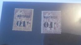 LOT 236463 TIMBRE DE COLONIE MARTINIQUE NEUF* N�7/8 VALEUR 23 EUROS