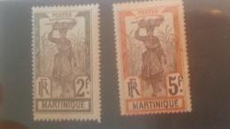 LOT 236471 TIMBRE DE COLONIE MARTINIQUE NEUF* N�76/77 VALEUR 20 EUROS