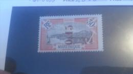 LOT 236473 TIMBRE DE COLONIE MARTINIQUE NEUF* N�108 a RENVERSE VALEUR 70 EUROS