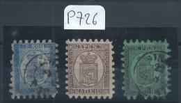 FINLANDE - N° YVERT 3A,5 ET 6 - COTE Obli 625€ - Used Stamps