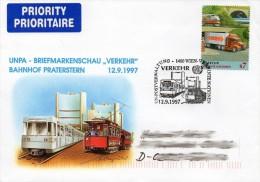FDC UNO Wien  Moderner Zug  **/MNH - Trains