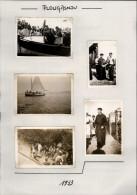 29 - PLOUGASNOU - 8 Petites Photos Prises En 1933 - Lieux