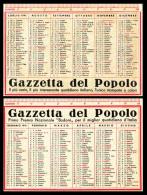 Calendario, Calendarietto Plastificato Della Gazzetta Del Popolo 1941. - Calendari
