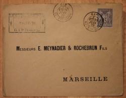 Enveloppe Pour Rebais Affranchissement Type Sage Oblitération Gap Type 18 Hautes-Alpes 04 - Postmark Collection (Covers)