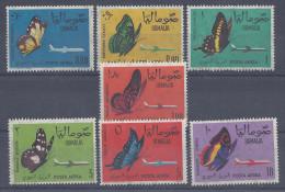 SOMALIE -  1961 -  PAPILLONS DIVERS -  SERIE P. AERIENNE N° 8 à 14 - XX - MNH -  COTE 30.00 € - - Somalie (1960-...)