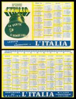 Calendario, Calendarietto De L´Italia, Quotidiano Del Mattino Per Il 1960. - Calendari