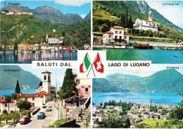 ITALY, Saluti Dal LAGO DI LUGANO, Used Postcard [14474] - Como