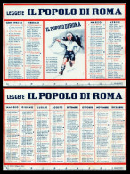 Calendario, Calendarietto Plastificato Del Quotidiano Il Popolo Di Roma Per L´anno 1942. - Calendari