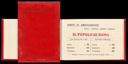 Il Popolo Di Roma, Quotidiano. Rubrica Indirizzi E Telefoni Con Calendario Per L´anno 1941. - Calendari