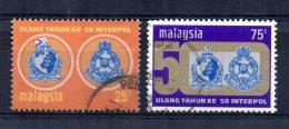 Malaysia - 1973 - 50th Anniversary Of Interpol - Used - Malaysia (1964-...)
