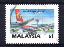 Malaysia - 1987 - $1 Asia/Pacific Transport & Communications Decade - Used - Malaysia (1964-...)