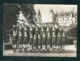 CPSM - Loches (37) - Le Chateau - La Collegiale - Les Petits Chanteurs De Touraine Photo Simon - Loches