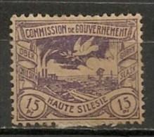 Timbres - Allemagne - Empire - Plébiscite - Haute Silésie - 15 Pf. -