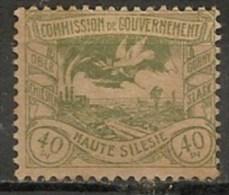Timbres - Allemagne - Empire - Plébiscite - Haute Silésie - 40 Pf. -